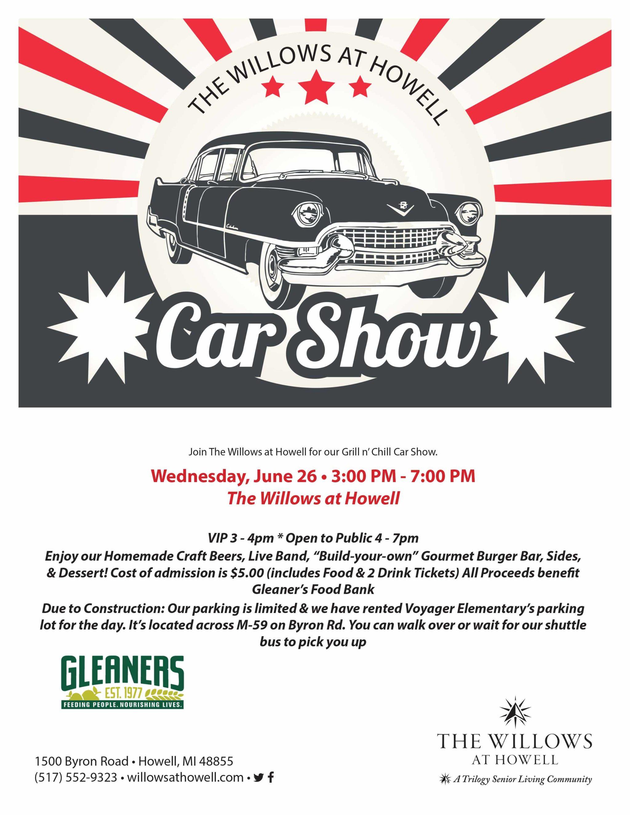 2019 Willows Car Show Flyer
