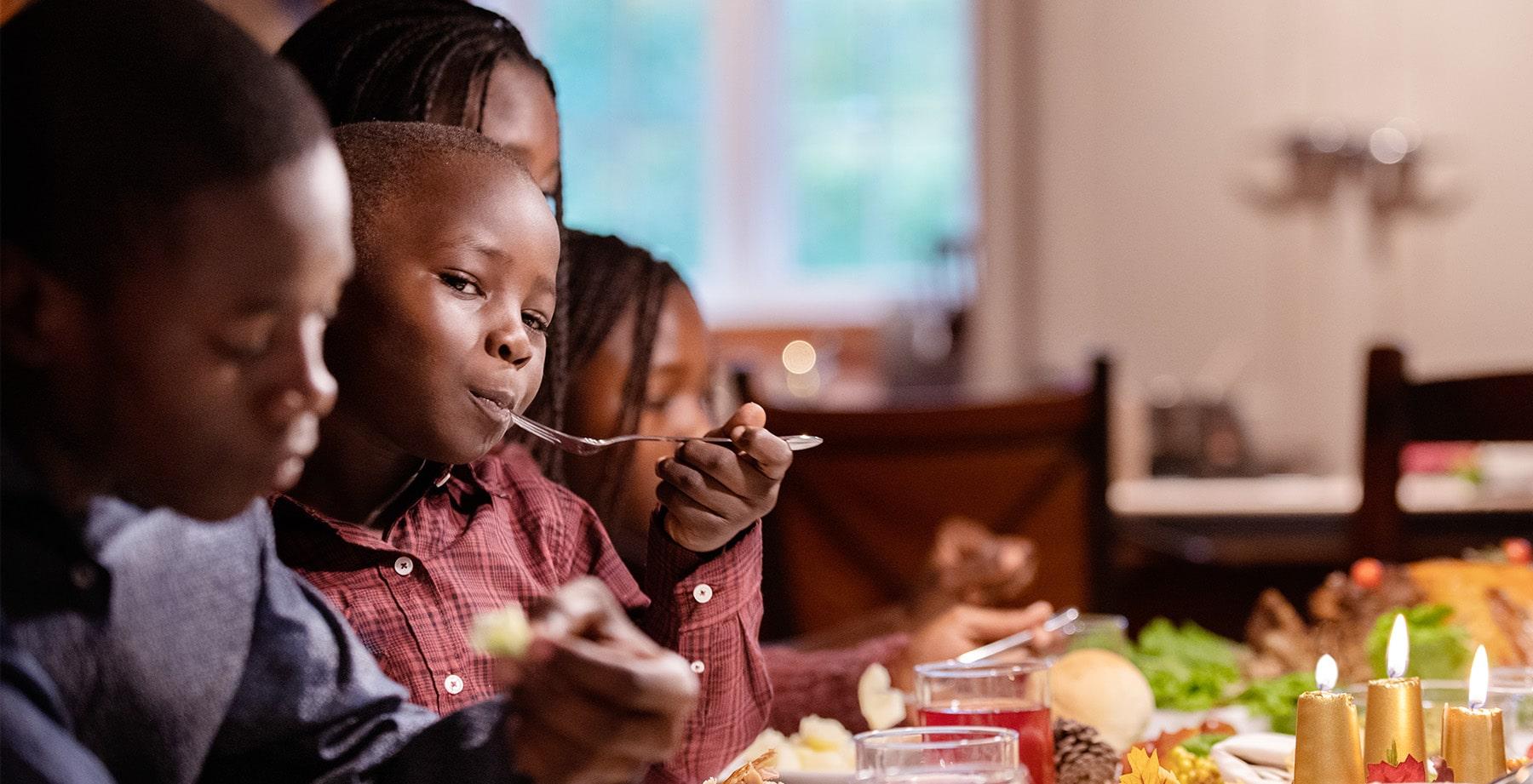 Family Enjoying Holiday Dinner