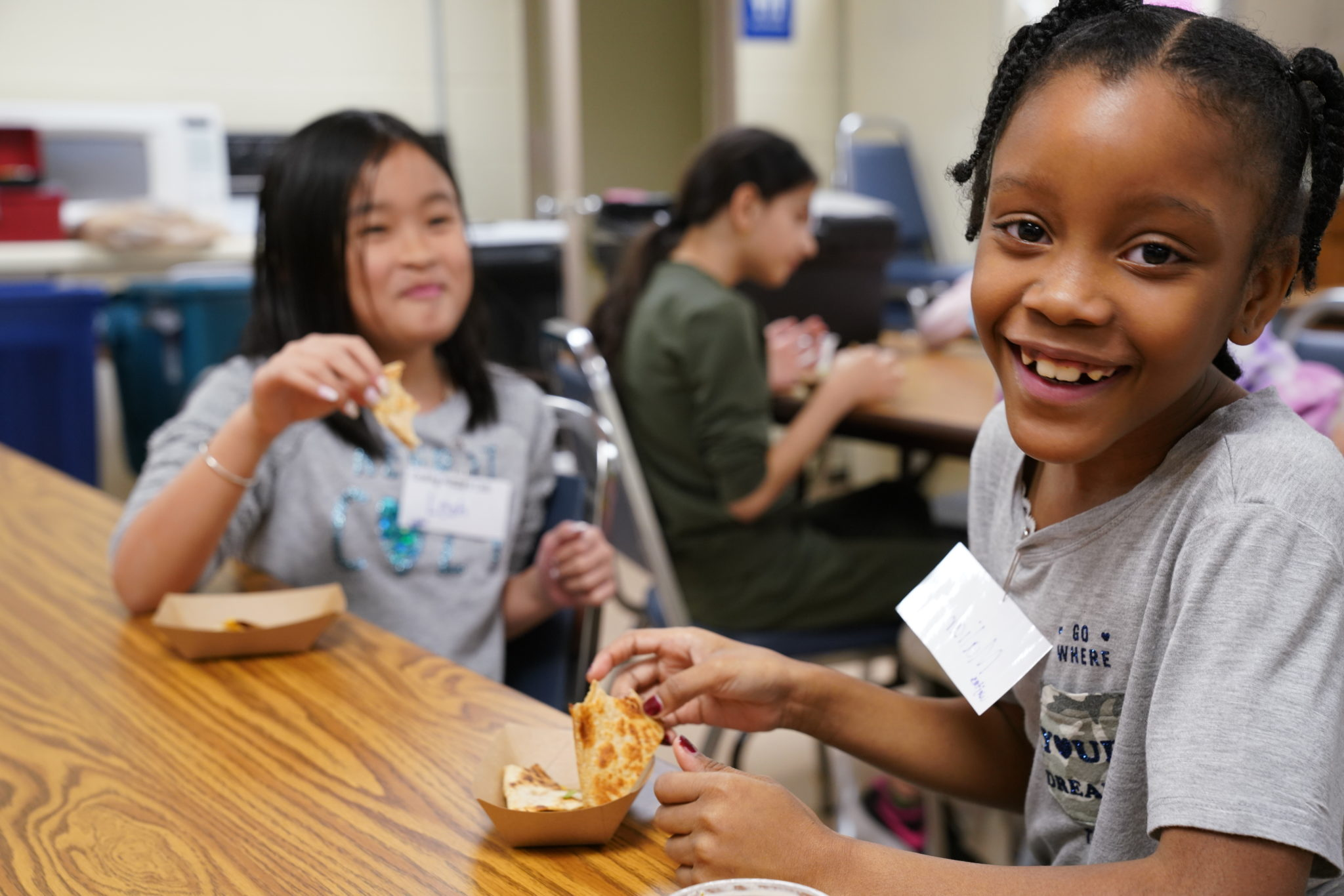 Students participate in Cooking Matters classes taught by Gleaners instructors.