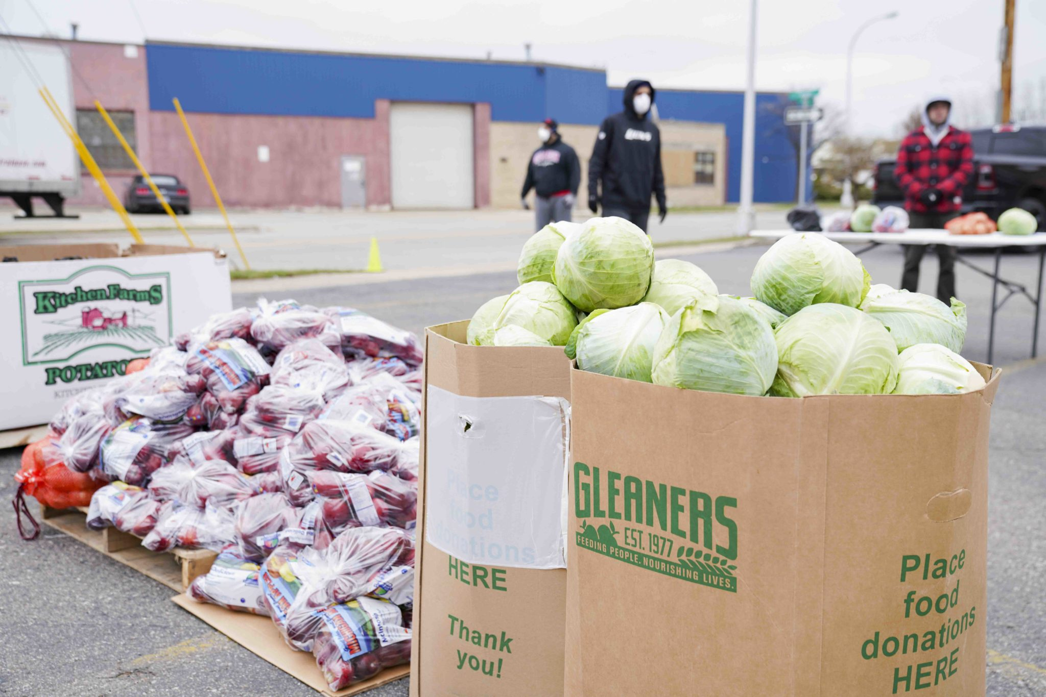 Gleaners hosts drive-up food distributions for families in need.