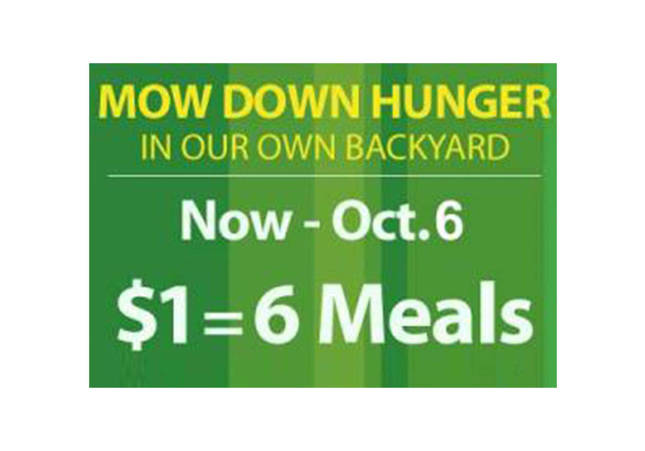 Mow Down Hunger Banner
